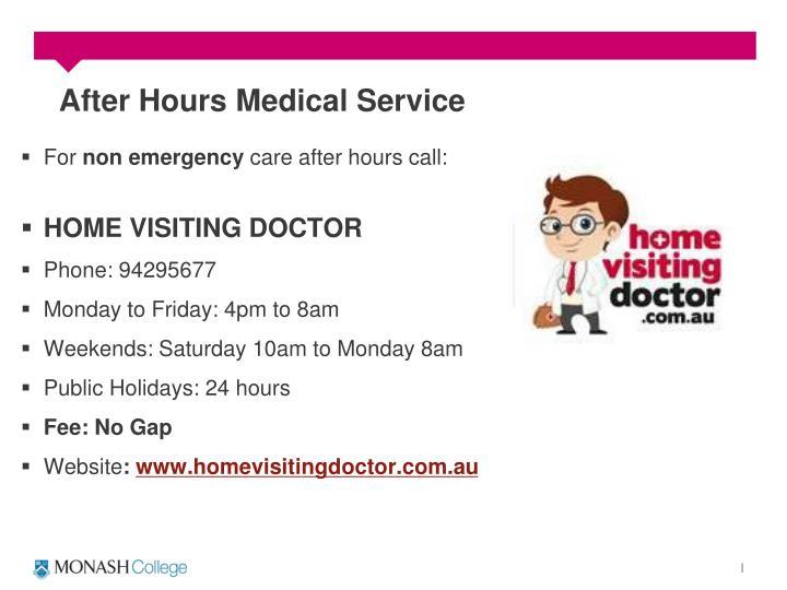 After Hours Medical Service