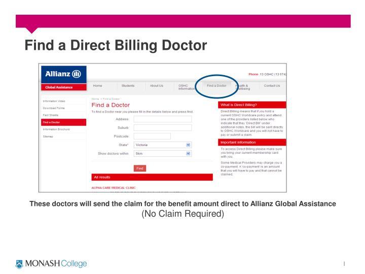 Find a Direct Billing Doctor