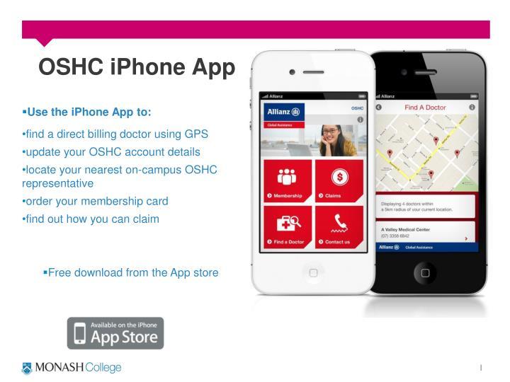 OSHC iPhone App
