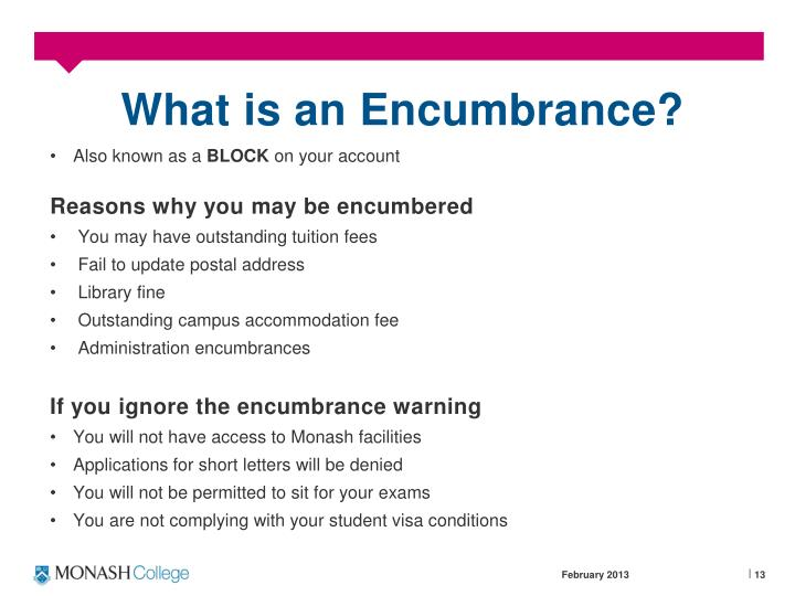What is an Encumbrance?