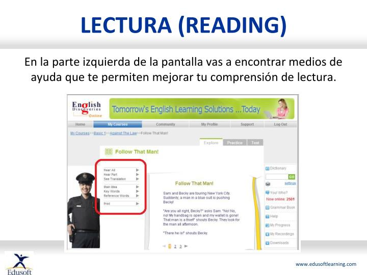 LECTURA (READING)