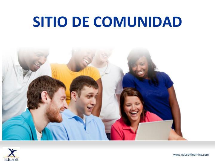 SITIO DE COMUNIDAD