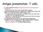 antigen presentation t cells