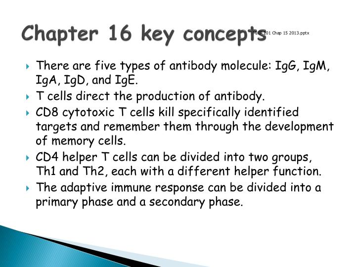 Chapter 16 key concepts