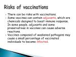 risks of vaccinations