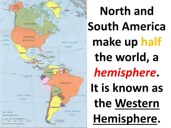 North and South America make up