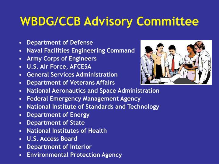 WBDG/CCB Advisory Committee