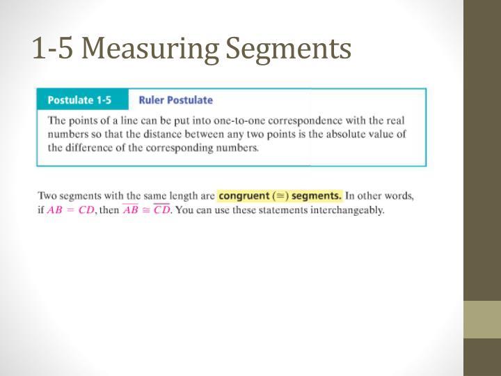 1-5 Measuring Segments