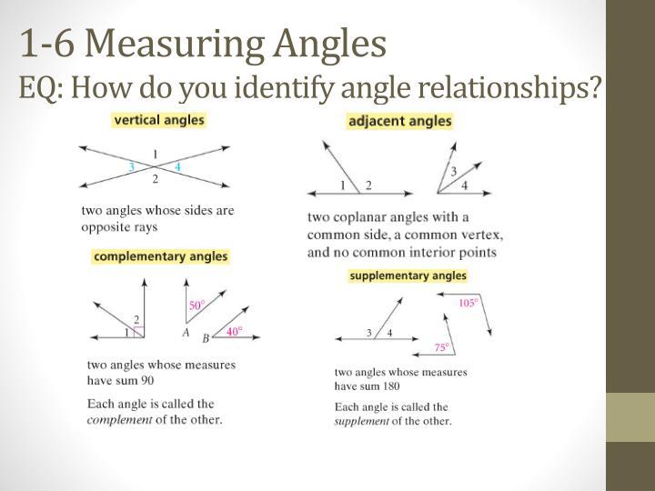1-6 Measuring Angles