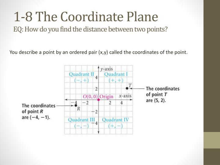 1-8 The Coordinate Plane