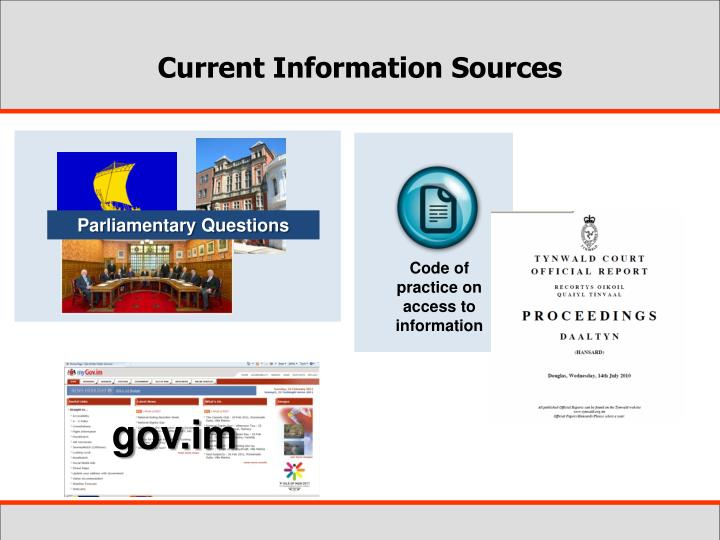 Current Information Sources