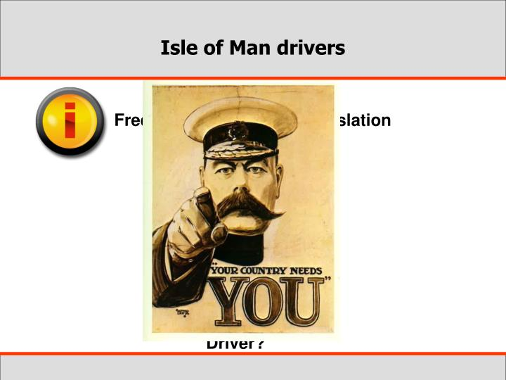Isle of Man drivers