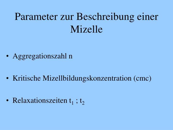 Parameter zur Beschreibung einer Mizelle