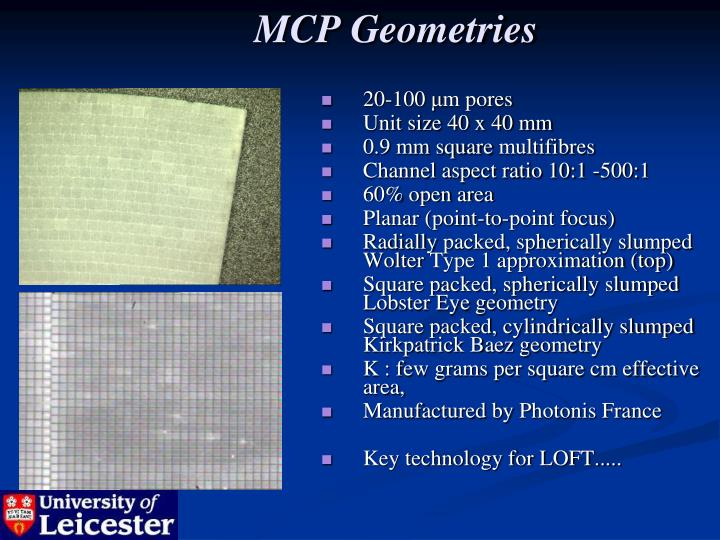 MCP Geometries