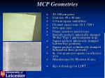 mcp geometries