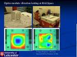 optics module vibration testing at ralspace