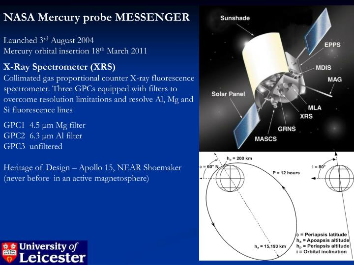 NASA Mercury probe MESSENGER