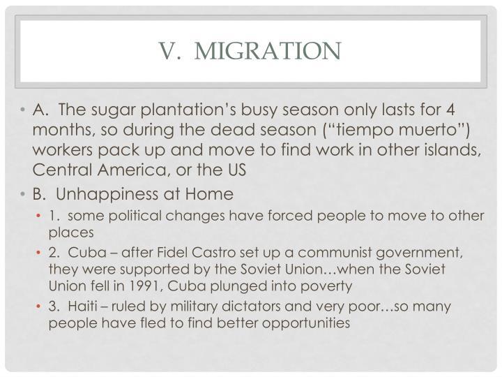V.  migration