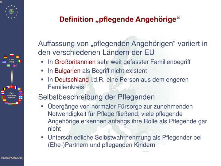 """Definition """"pflegende Angehörige"""""""