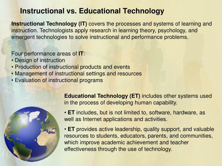 Instructional vs. Educational Technology