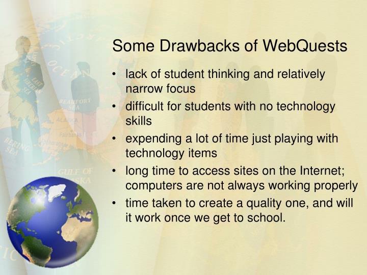 Some Drawbacks of WebQuests