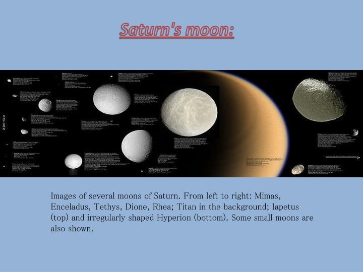 Saturn's moon: