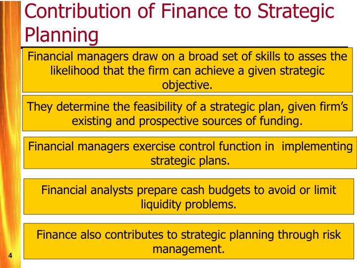 Contribution of Finance to Strategic Planning