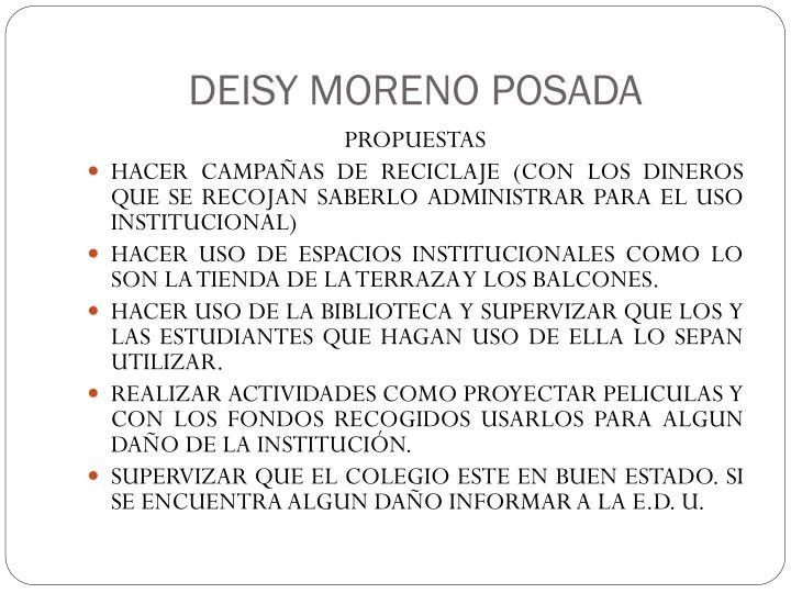 DEISY MORENO POSADA