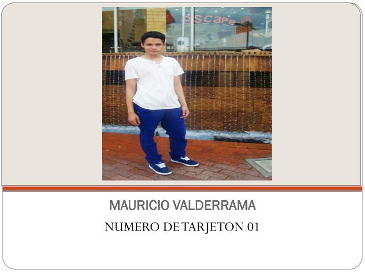MAURICIO VALDERRAMA