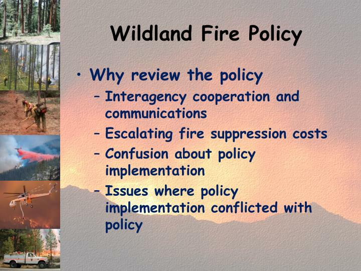 Wildland Fire Policy