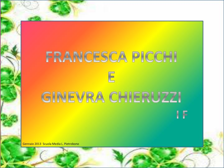 FRANCESCA PICCHI