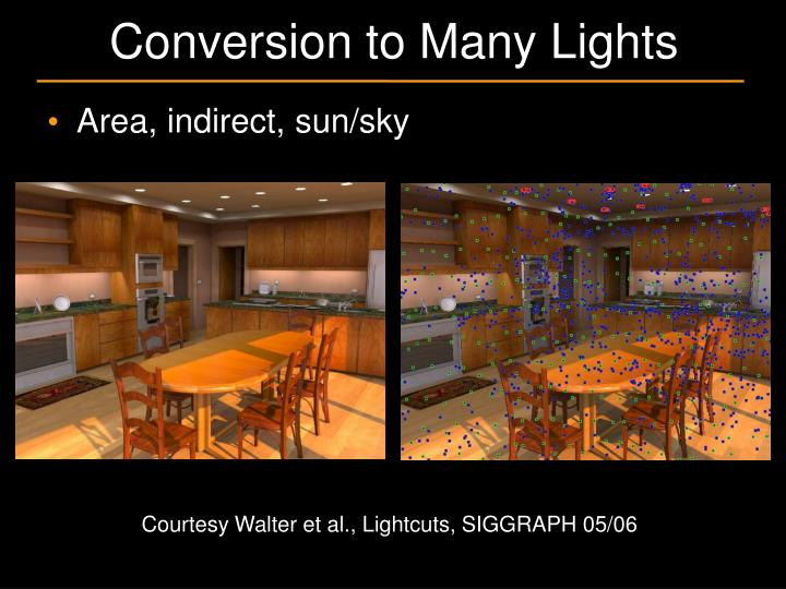Conversion to many lights