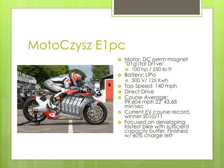 MotoCzysz E1pc