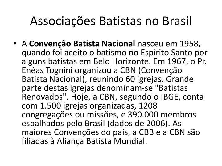 Associações Batistas no Brasil