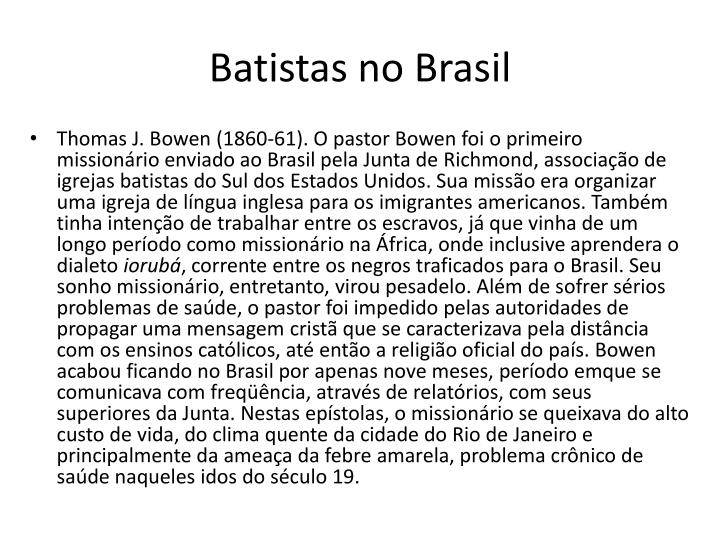 Batistas no Brasil