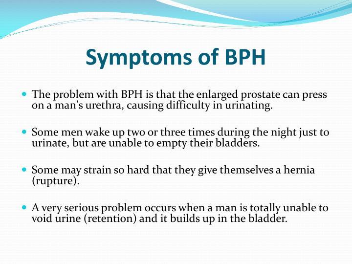 Symptoms of BPH