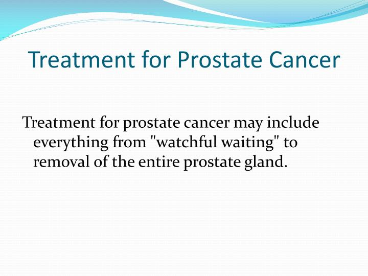 Treatment for Prostate Cancer