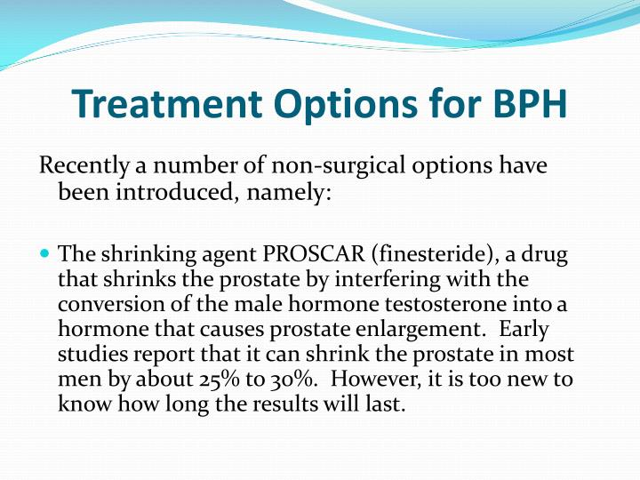 Treatment Options for BPH