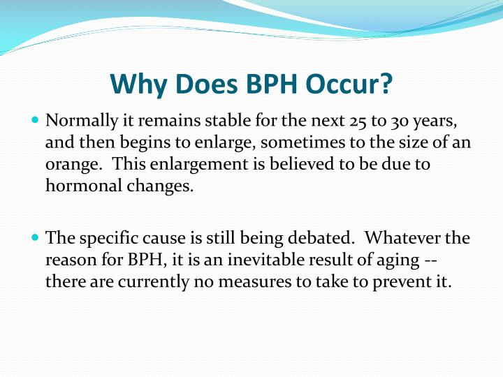 Why Does BPH Occur?