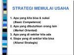 strategi memulai usaha