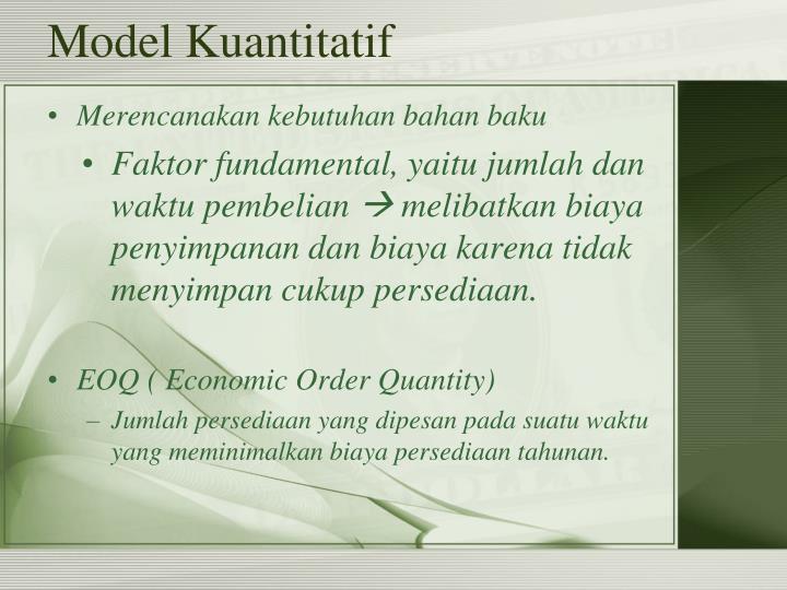 Model Kuantitatif