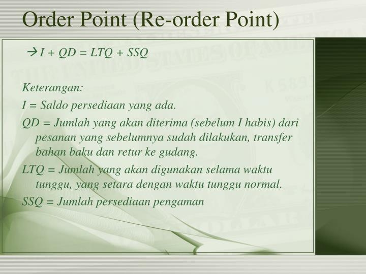 Order Point (Re-order Point)