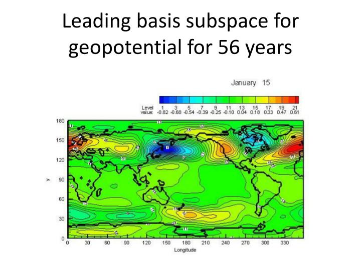Leading basis subspace for geopotential for 56 years