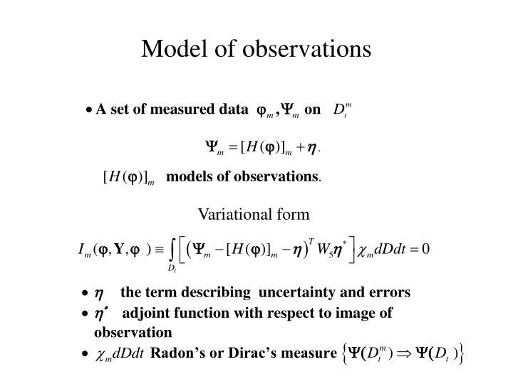 Model of observations