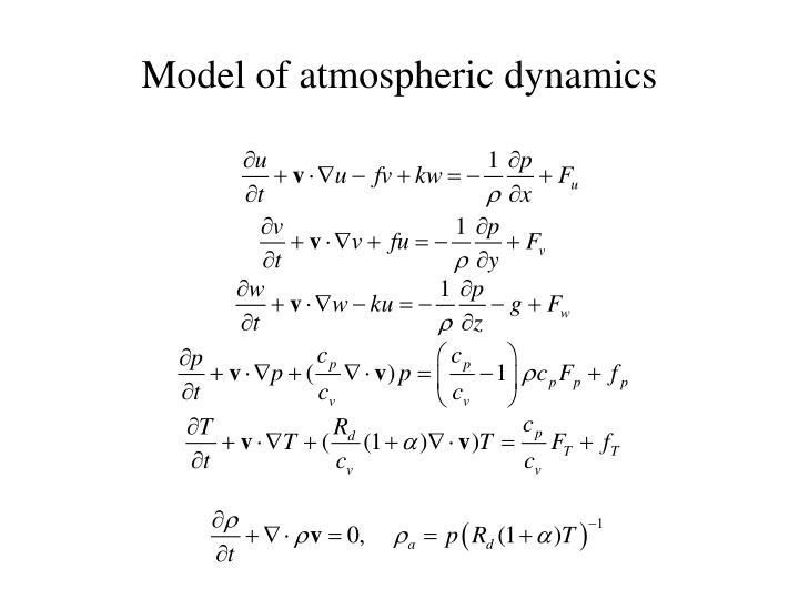 Model of atmospheric dynamics