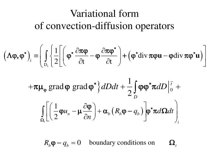 Variational form
