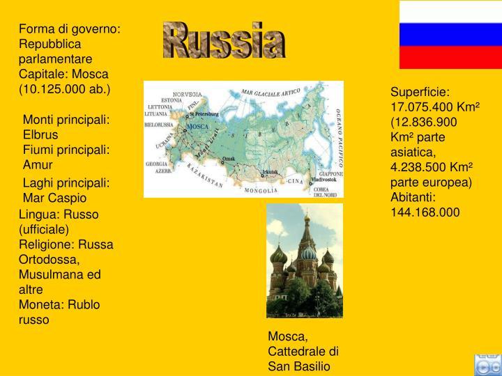 Forma di governo: Repubblica parlamentare