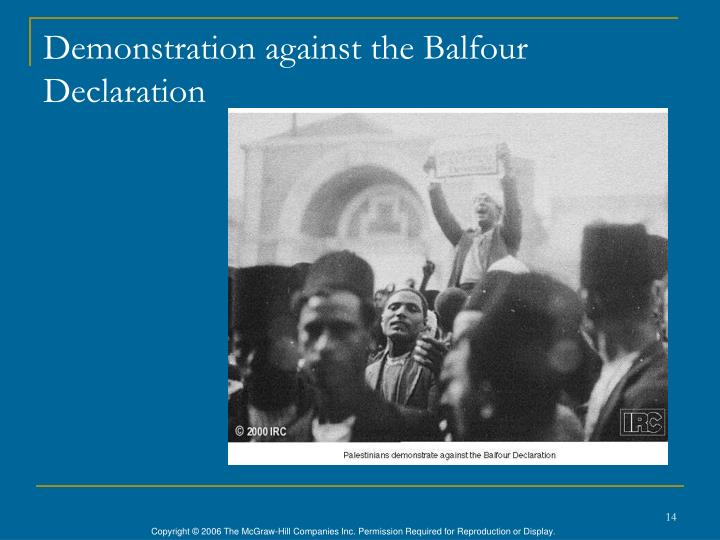 Demonstration against the Balfour Declaration