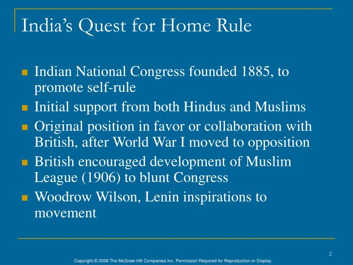 India s quest for home rule