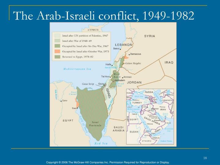 The Arab-Israeli conflict, 1949-1982